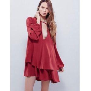 Free People Beck Dress Burgundy / Red / Maroon